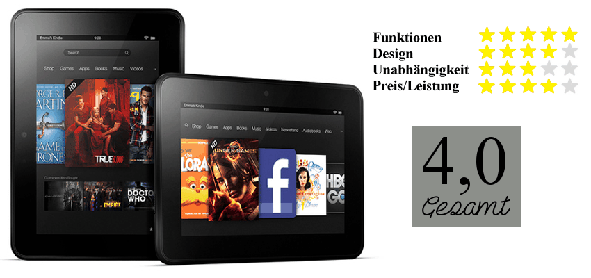 Bewertung Kindle Fire 7