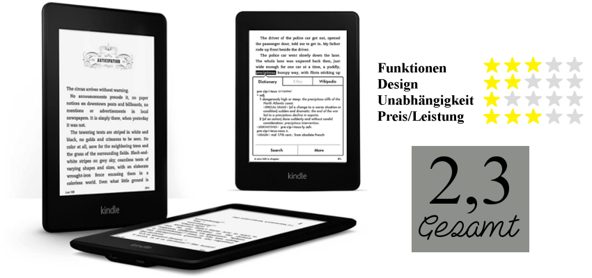 Bewertung Kindle Paperwhite 2